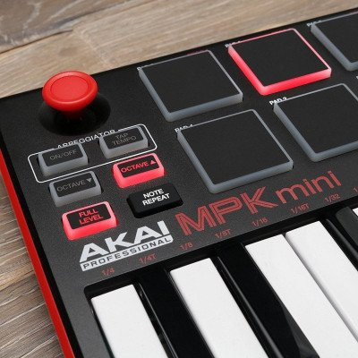 keyboard and drum pad controller with joystick-2