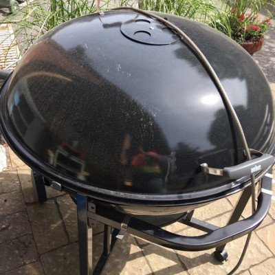 huge charcoal grill