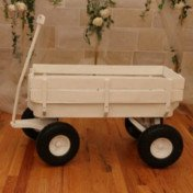 White wood wagon