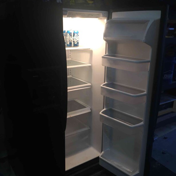 black double door fridge-2