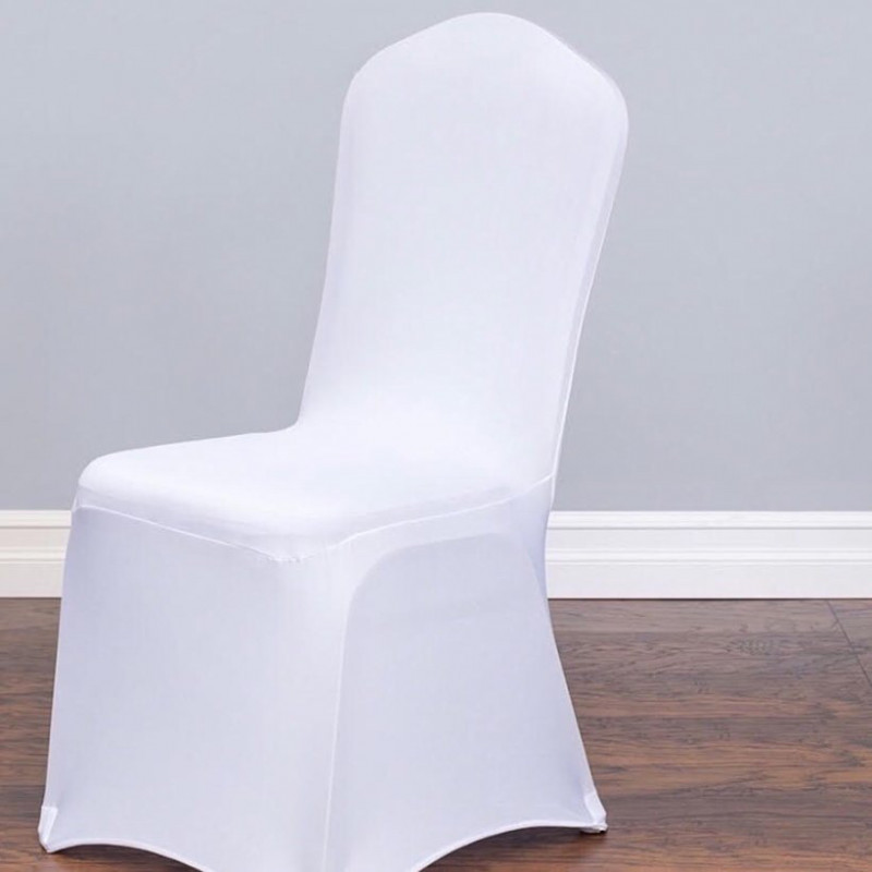 spandex chair covers- white