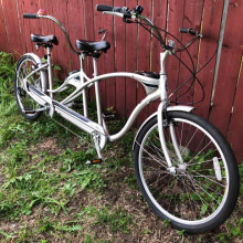 Fun tandem bicycle