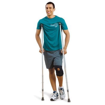 lightweight adjustable aluminum crutches picture 1
