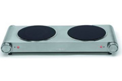 Salton - Double Burner Stainless Steel Hot Plate