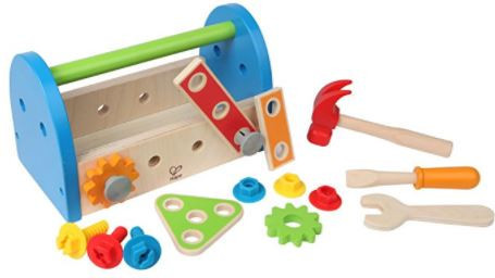 Hape - Fix It Kid's Wooden Tool Box & Accessory Set