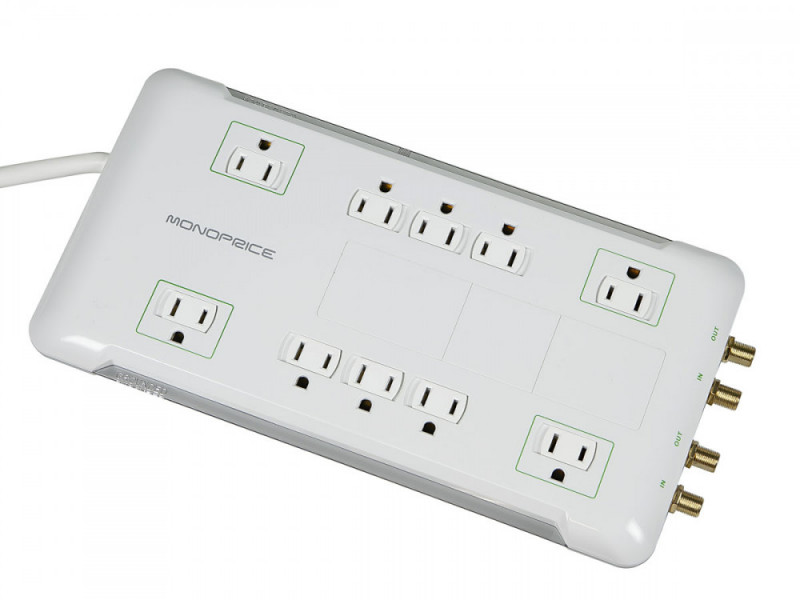 monoprice – 10 outlet surge protector bar
