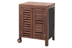 Outdoor Storage Cabinet, Brown Stained