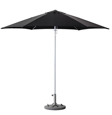 Patio Umbrella with Base, Black