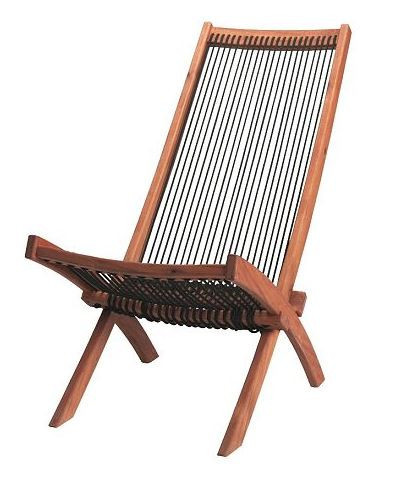 Outdoor Chair, Black/Brown