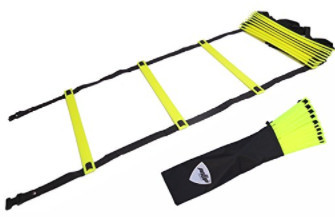 Pepup Sports - 12 Rungs Adjustable Speed Agility Ladder