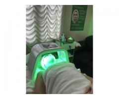 Facials, waxing, laser, back treatment.