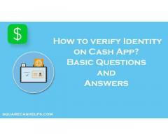 How can you verify your identity in a Cash App?