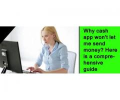 How to contact client care if the Cash app won't let me send cash?