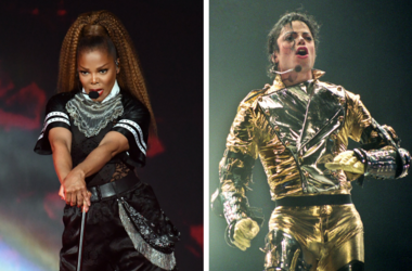 Aug 5, 2018; Miami, FL, USA; Janet Jackson performs at American Airlines Arena. / AUCKLAND, NEW ZEALAND - NOVEMBER 10: Michael Jackson performs on stage during is 'HIStory' world tour concert at Ericsson Stadium November 10, 1996 in Auckland, New Zealand.