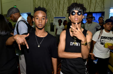 Slim Jimmy (L) and Swae Lee of Rae Sremmurd attend day 1 of the Radio Broadcast Center during the BET Awards '14 on June 27, 2014 in Los Angeles, California.
