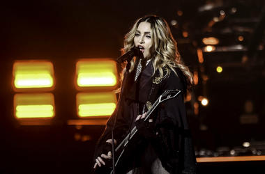 Jan 23, Miami, FL, USA; Recording artist Madonna performs during her Rebel Heart Tour stop at the American Airlines Center.