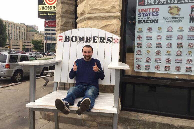 Big Guy in a Bigger Chair