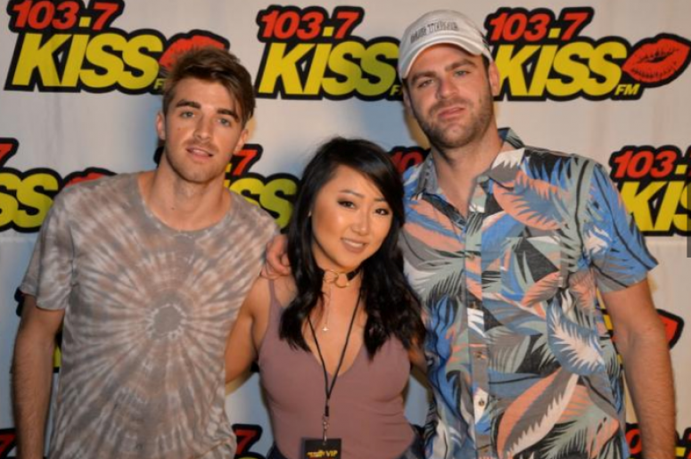 "Chainsmokers Backstage at ""KISS The Summer Goodbye"""