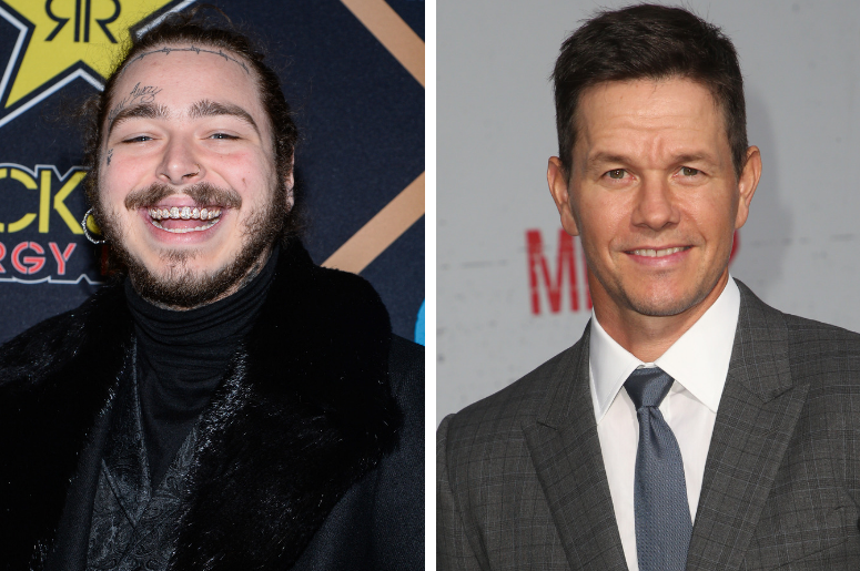 """Post Malone walking on the red carpet at the The 2018 MAXIM Party held at Schaffer-Richardson Building on February 3, 2018 in Minneapolis, Minnesota / Mark Wahlberg. Premiere Of STX Films' """"Mile 22"""" held at The Regency Village Theatre."""