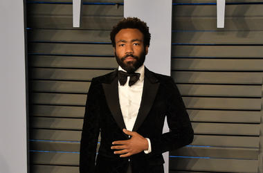Donald Glover arrives at the 2018 Vanity Fair Oscar Party at the Wallis Annenberg Center for the Performing Arts on March 4, 2018 in Beverly Hills, California.