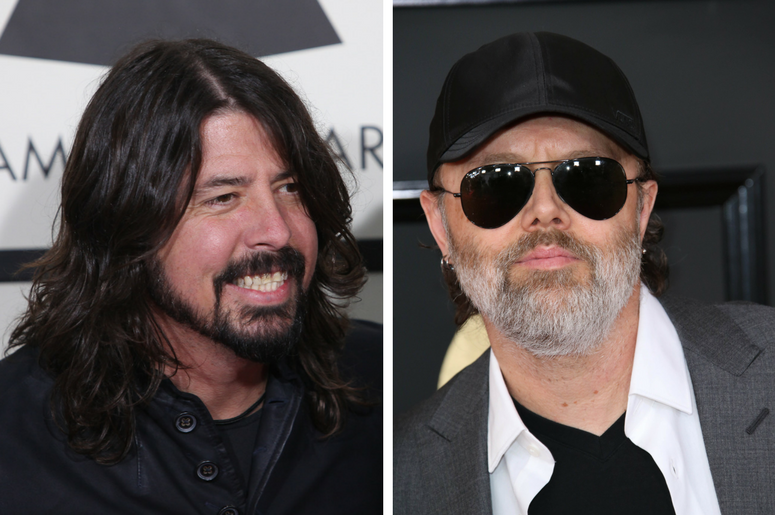 Dave Grohl of Foo Fighters and Lars Ulrich of Metallica