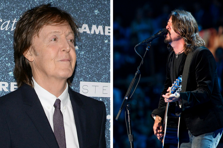 Paul McCartney and Dave Grohl