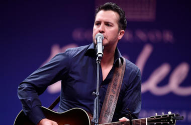 Luke Bryan performs during the First Couple's Inaugural Dinner and Ball