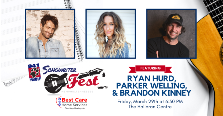 94.1 The Wolf Songwriter Fest 2019 Line-Up