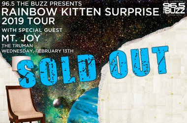 Rainbow Kitten Surprise is SOLD OUT!