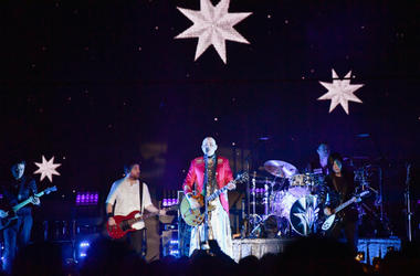 The Smashing Pumpkins performs on stage during the KROQ Absolut Almost Acoustic Christmas