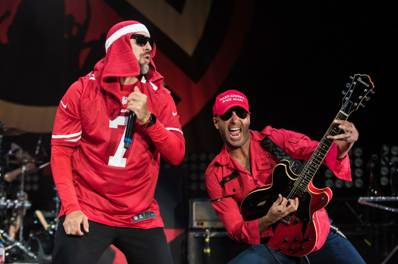 B-Real and Tom Morello of Prophets of Rage Perform at the Shoreline Amphitheatre