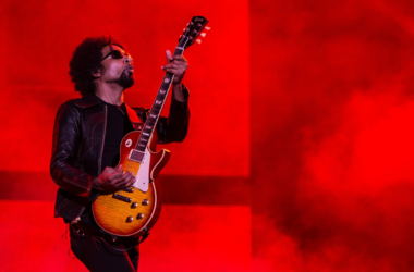 William DuVall of the band Alice in Chains performs on stage during a concert in the Rock in Rio Festival on September 19, 2013