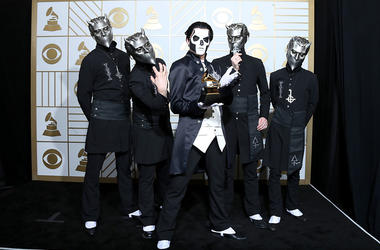 Ghost, winners of the award for Best Metal Performance