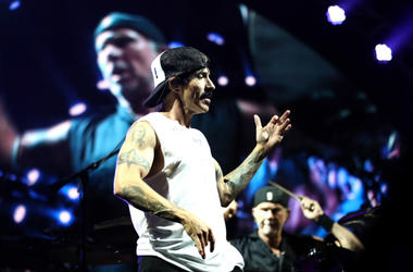 Anthony Kiedis of the Red Hot Chili Peppers performs at Spark Arena on March 08, 2019 in Auckland, New Zealand
