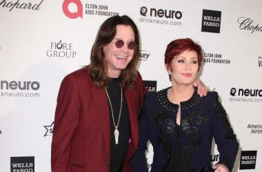 Sharon Osbourne and Ozzie Osbourne arrives at the 23rd Annual Elton John AIDS Foundation Oscar Viewing Party held in West Hollywood, CA on February 22, 2015