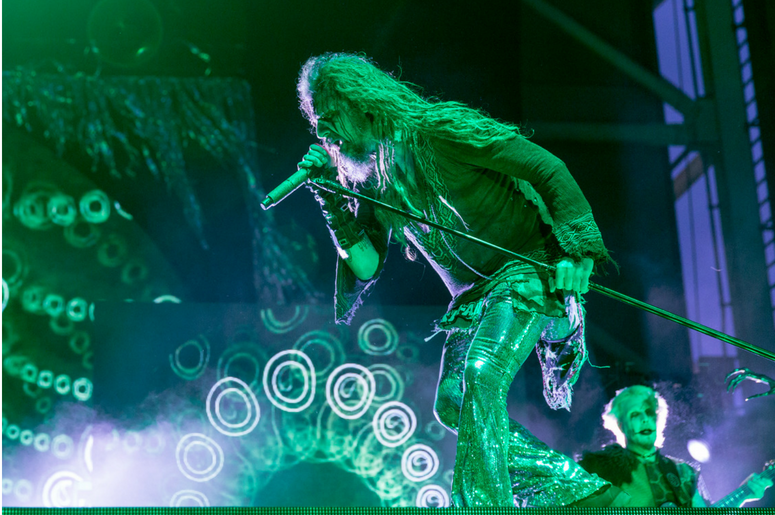 Rob Zombie with John 5 during Chicago Open Air Music Festival