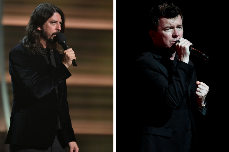 Dave Grohl and Rick Astley