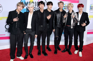 BTS at the 2017 American Music Awards at Microsoft Theater on November 19, 2017 in Los Angeles, California