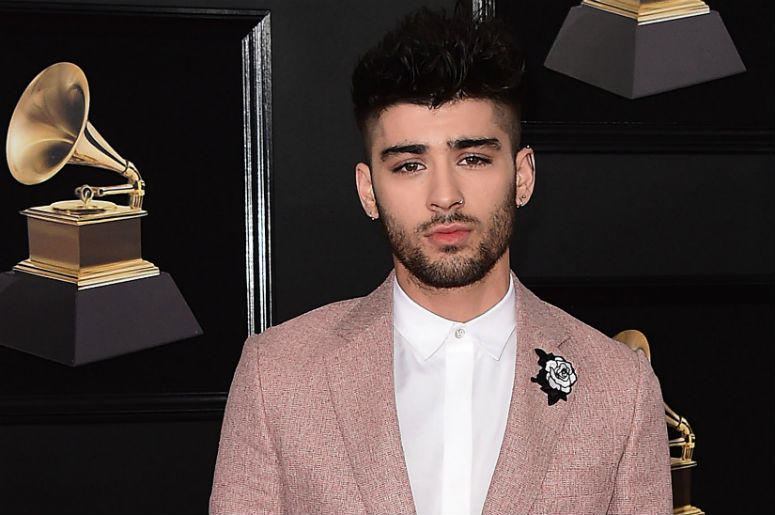 NEW YORK - JANUARY 28: Zayn Malik at the 60th Annual Grammy Awards at Madison Square Garden on January 28, 2018 in New York City.