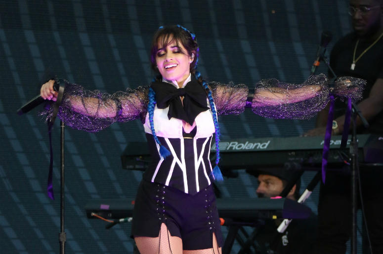7/20/2018 - Camila Cabello opens for Taylor Swift on her Reputation Stadium Tour at MetLife Stadium in New Jersey.