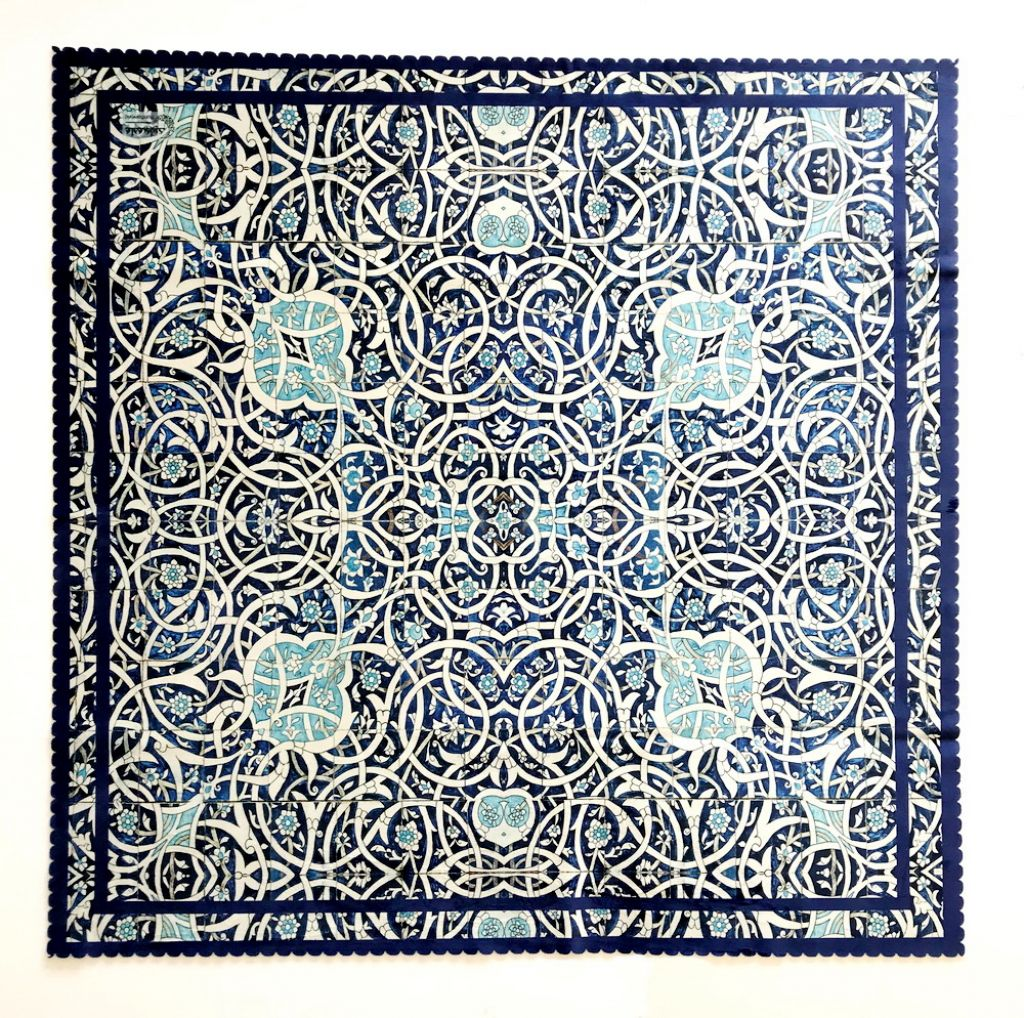 Blue and white tile Persian pattern Square Table cloth Table Cover