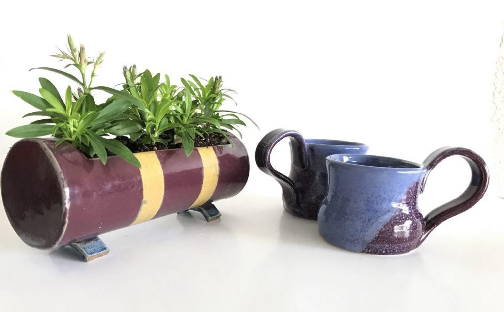 Handmade Unique Ceramic Flower Box Coffee Mugs