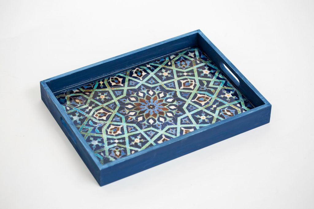 Boho Home Decor Persian Serving Tray