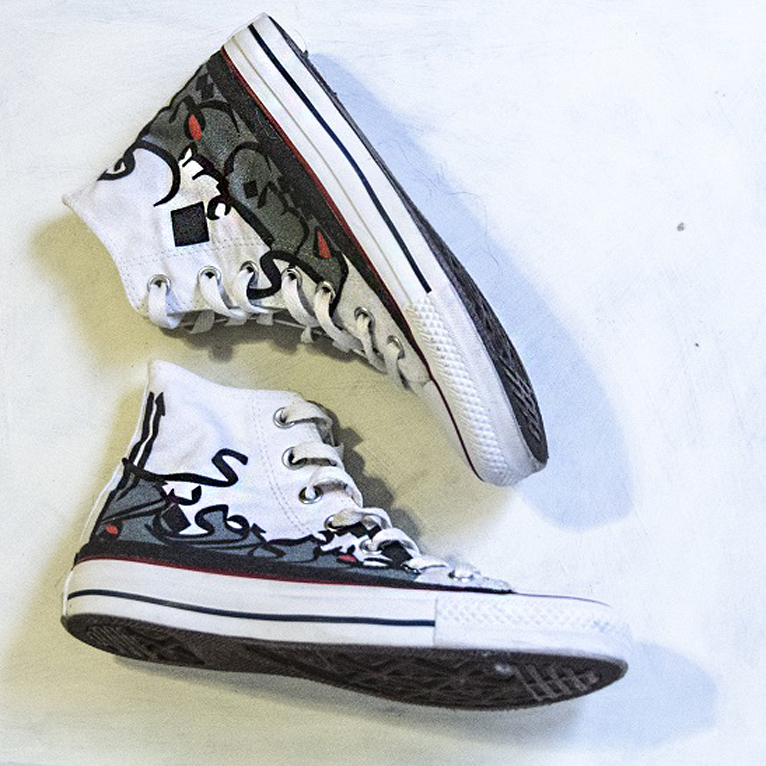 d6e1089abfa1 Custom Designed Converse Shoes with Persian Calligraphy. DESIGN ON ...