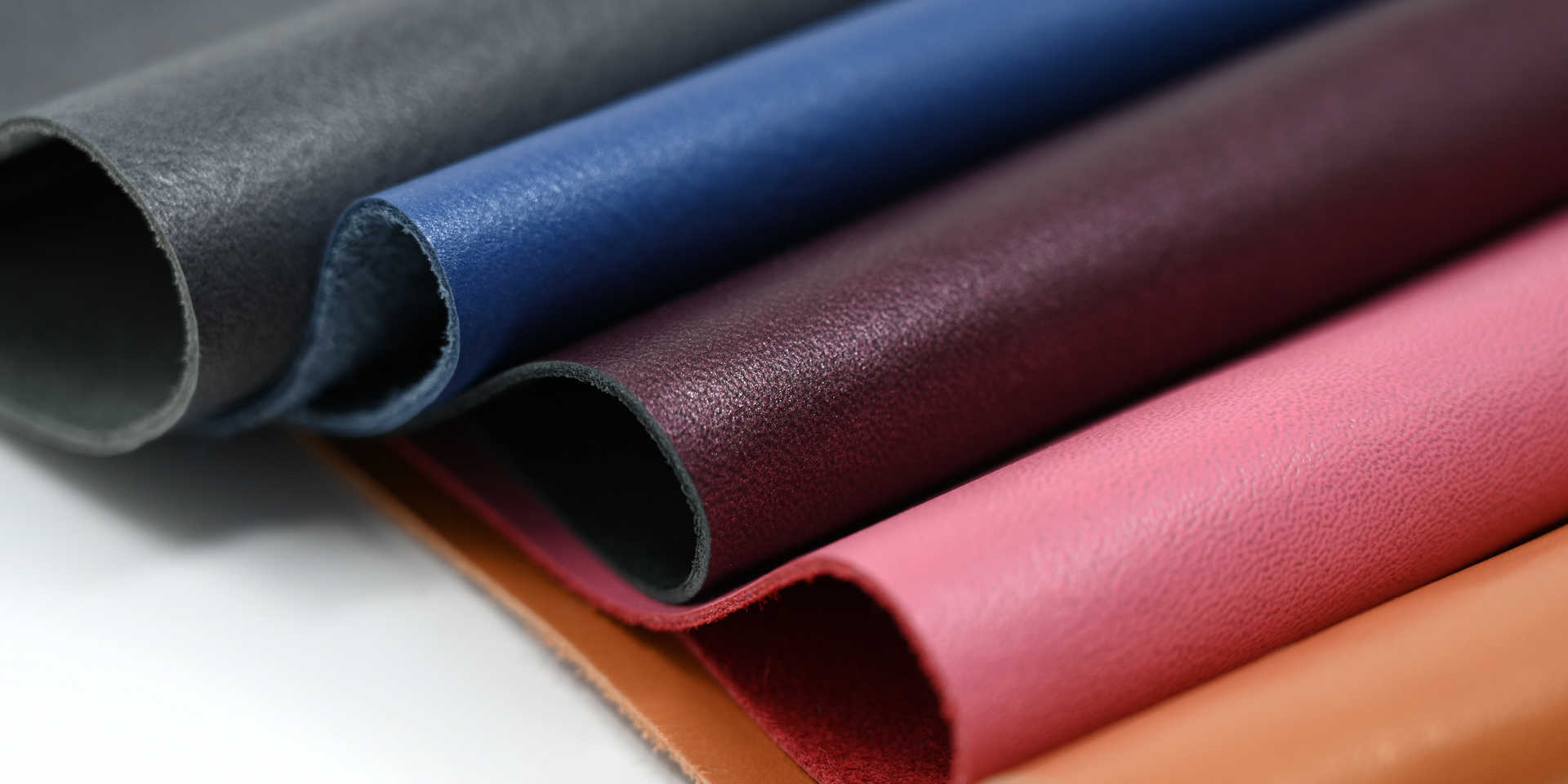 multi colored sections of leather