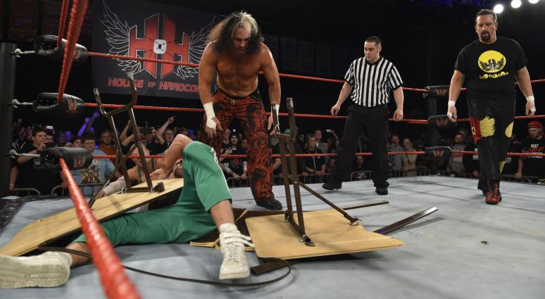 Apr 22, 2017; Philadelphia, PA, USA; Tommy Dreamer & Bully Ray compete against Broken Matt Hardy & Brother Nero during House of Hardcore 25 at 2300 Arena.
