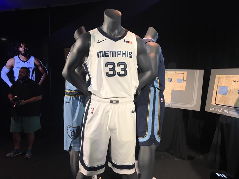 9ae8849d8 Here s a look at the brand new uniforms and court followed by a look at  every past Grizzlies uniform