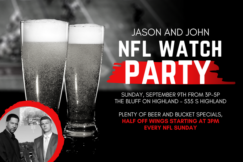 Jason and John Watch Party Sept. 9 2018 at 3pm