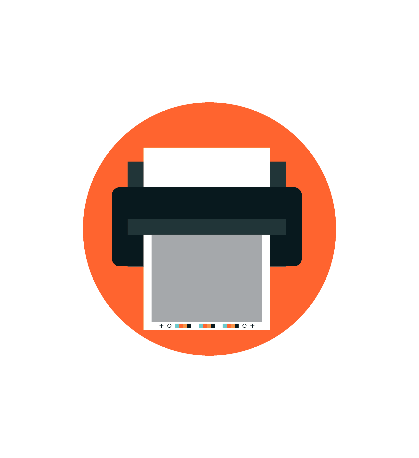 Request Literature Printer Icon