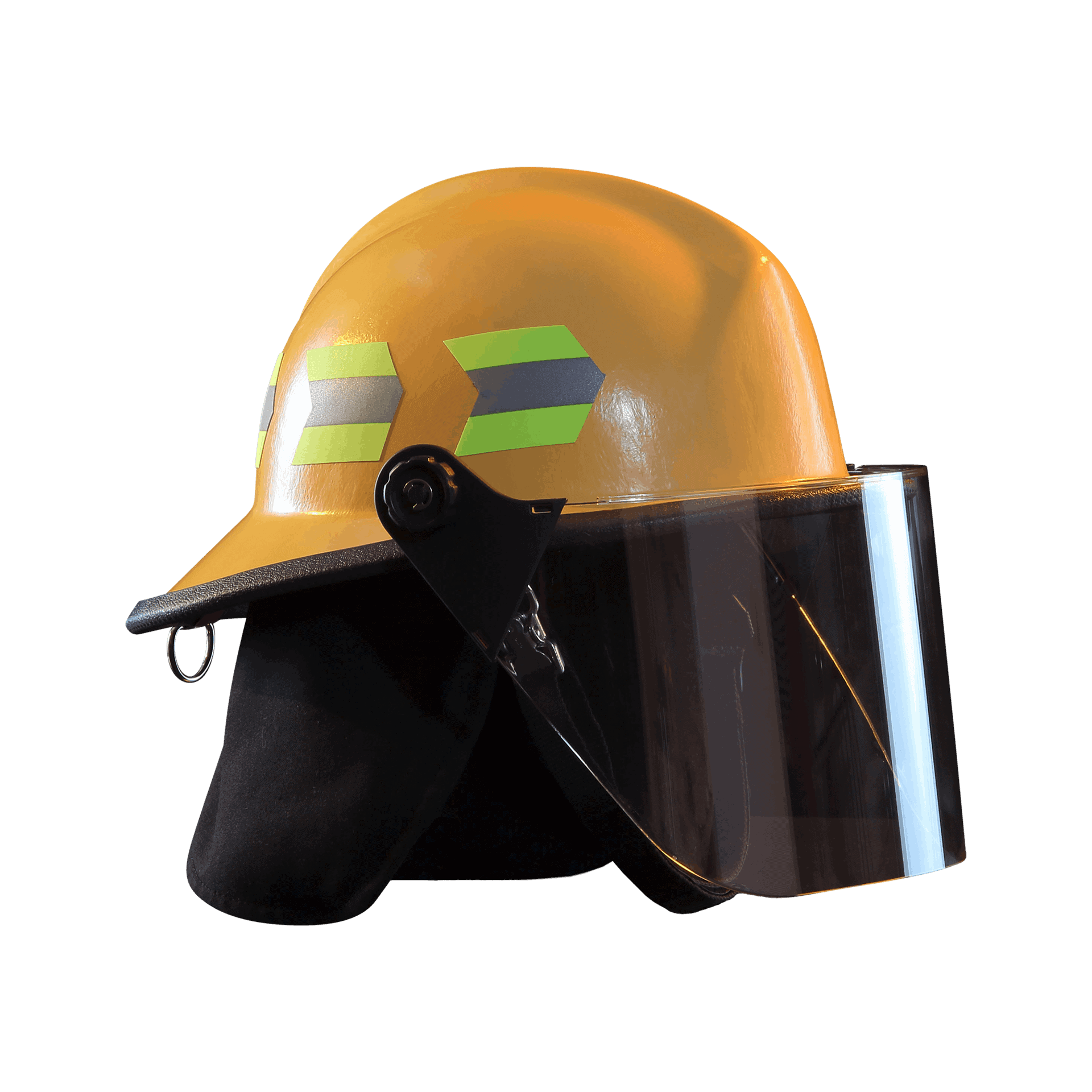 Fire-Dex Modern Helmet with visor - yellow